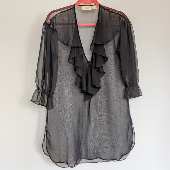 Victoria's Secret Vintage Black Sheer Nightgown